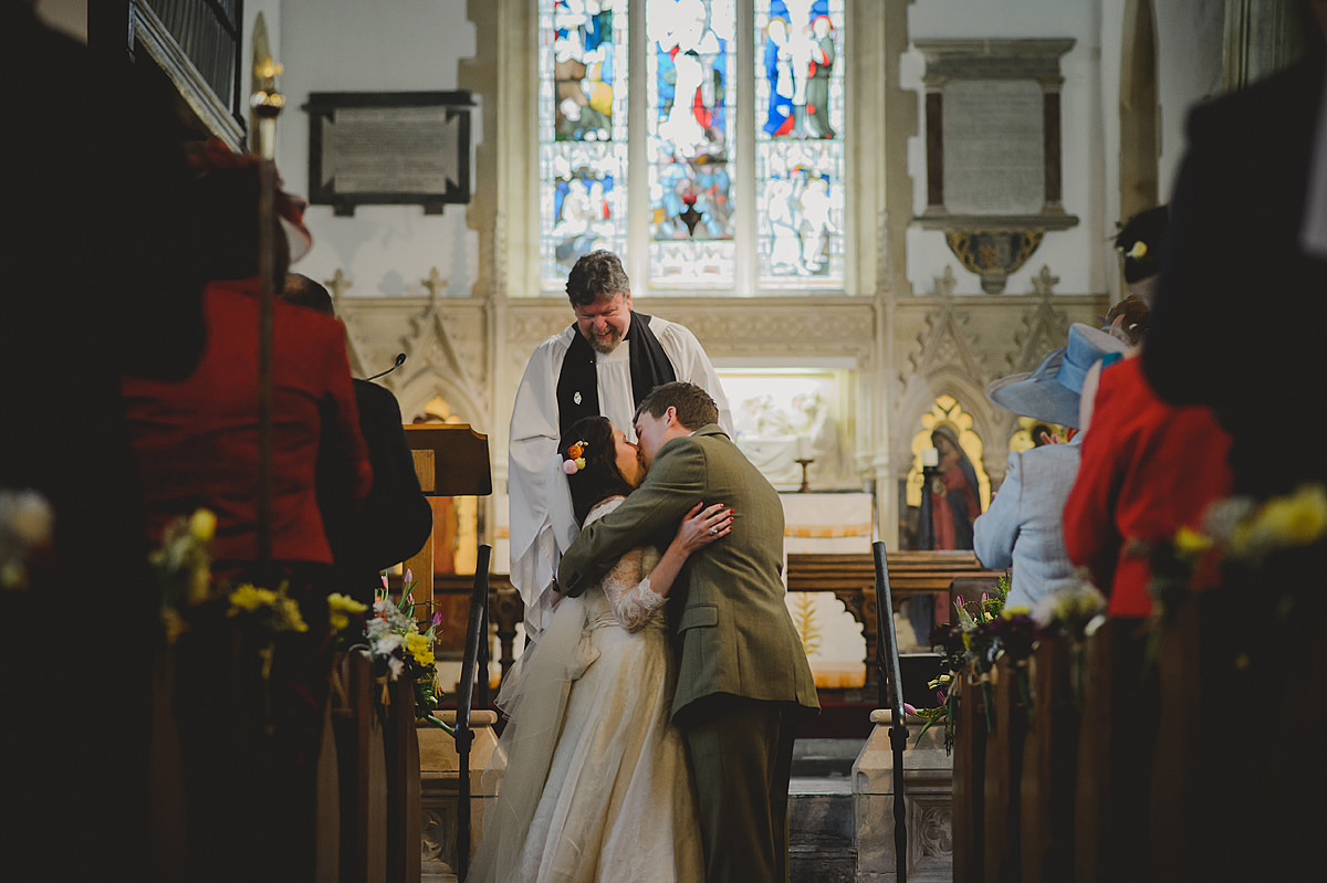 First kiss at Georgeham Church