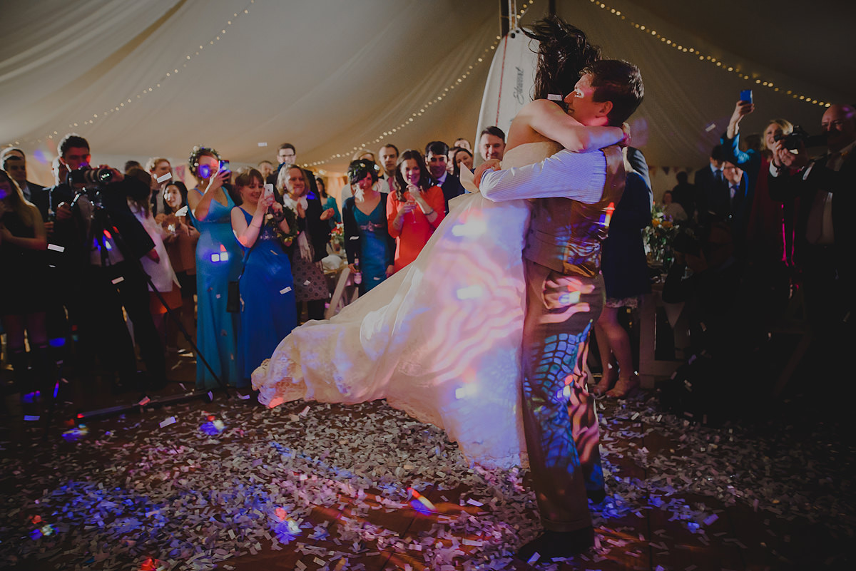 First dance at a wedding in Croyde
