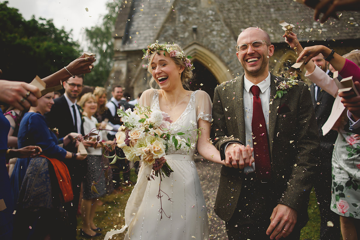 Confetti at St Matthew Church, Landscove