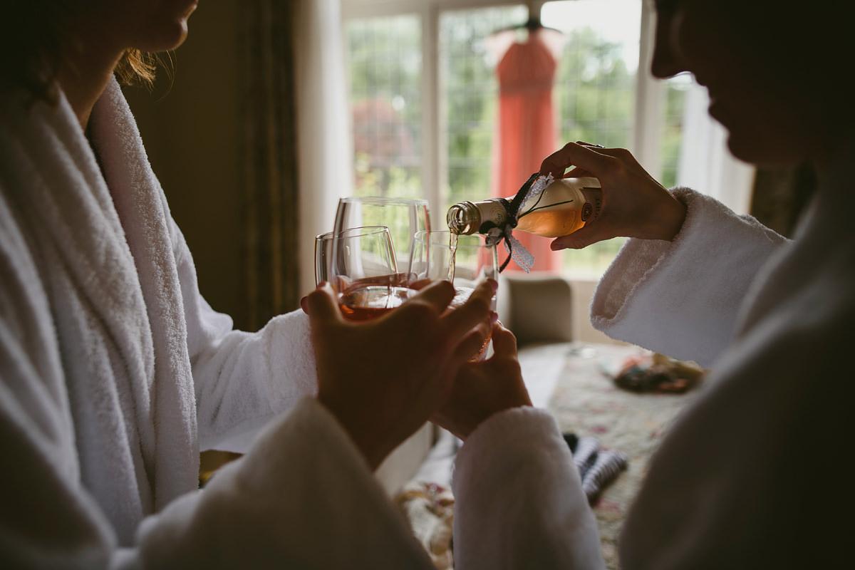 Girls wedding drinks