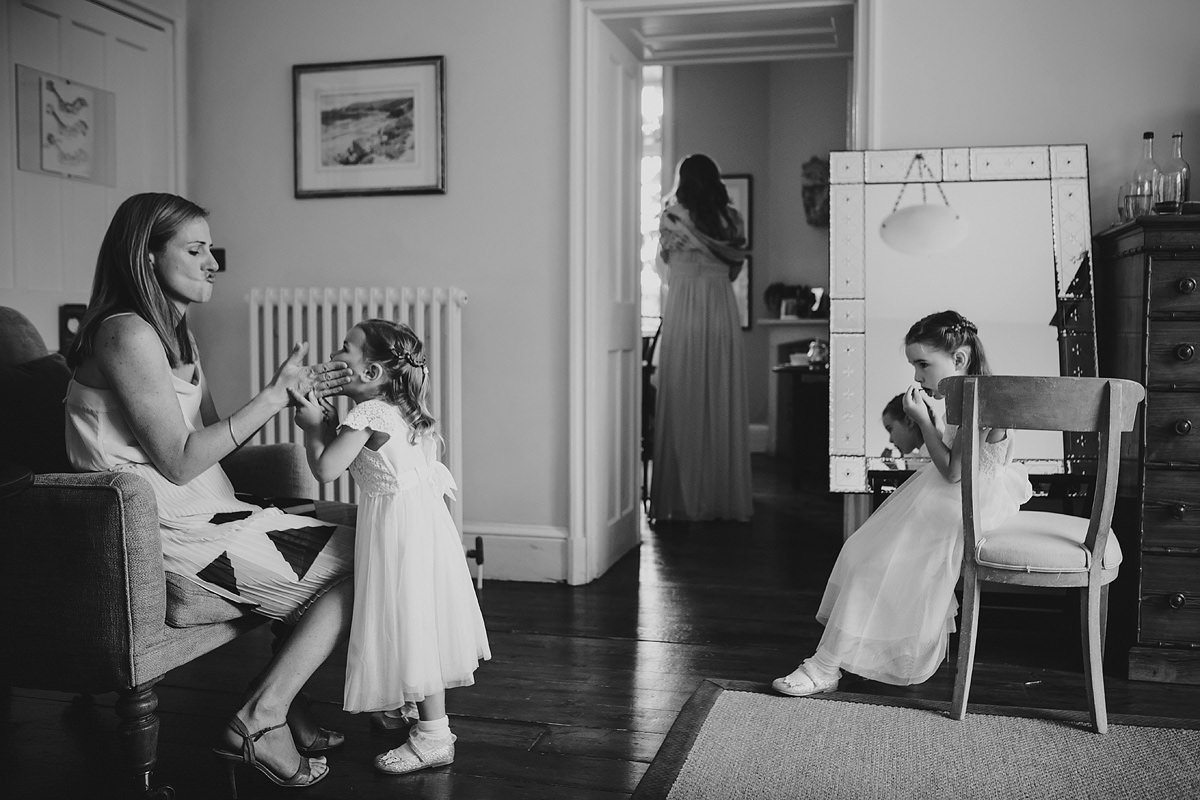 Flower girls at a Hotel Endsleigh wedding