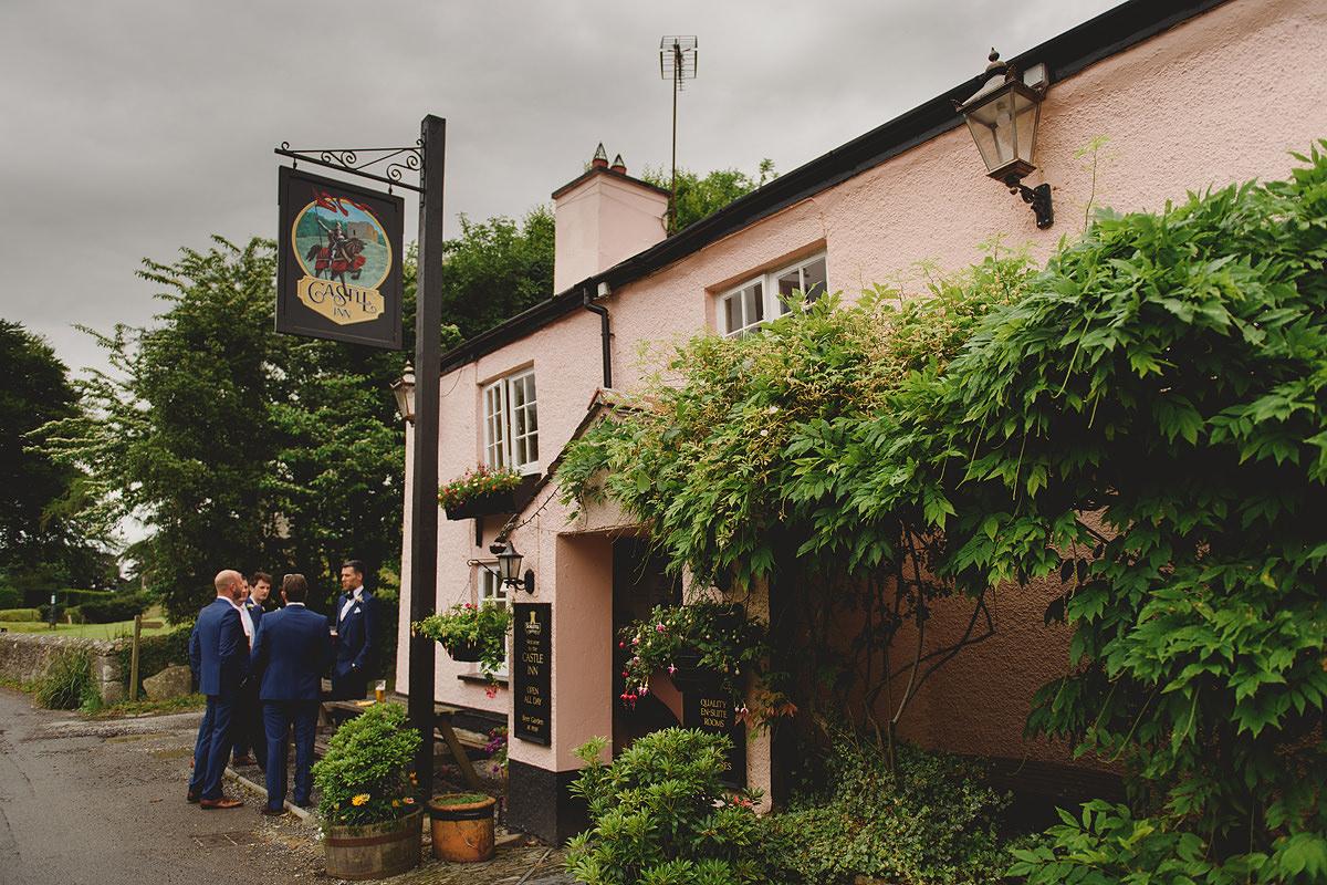 Groomsmen at the pub