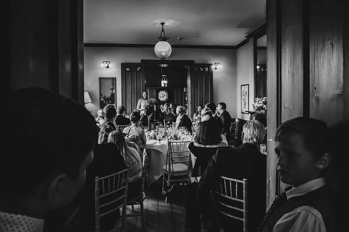 Wedding speeches wide shot