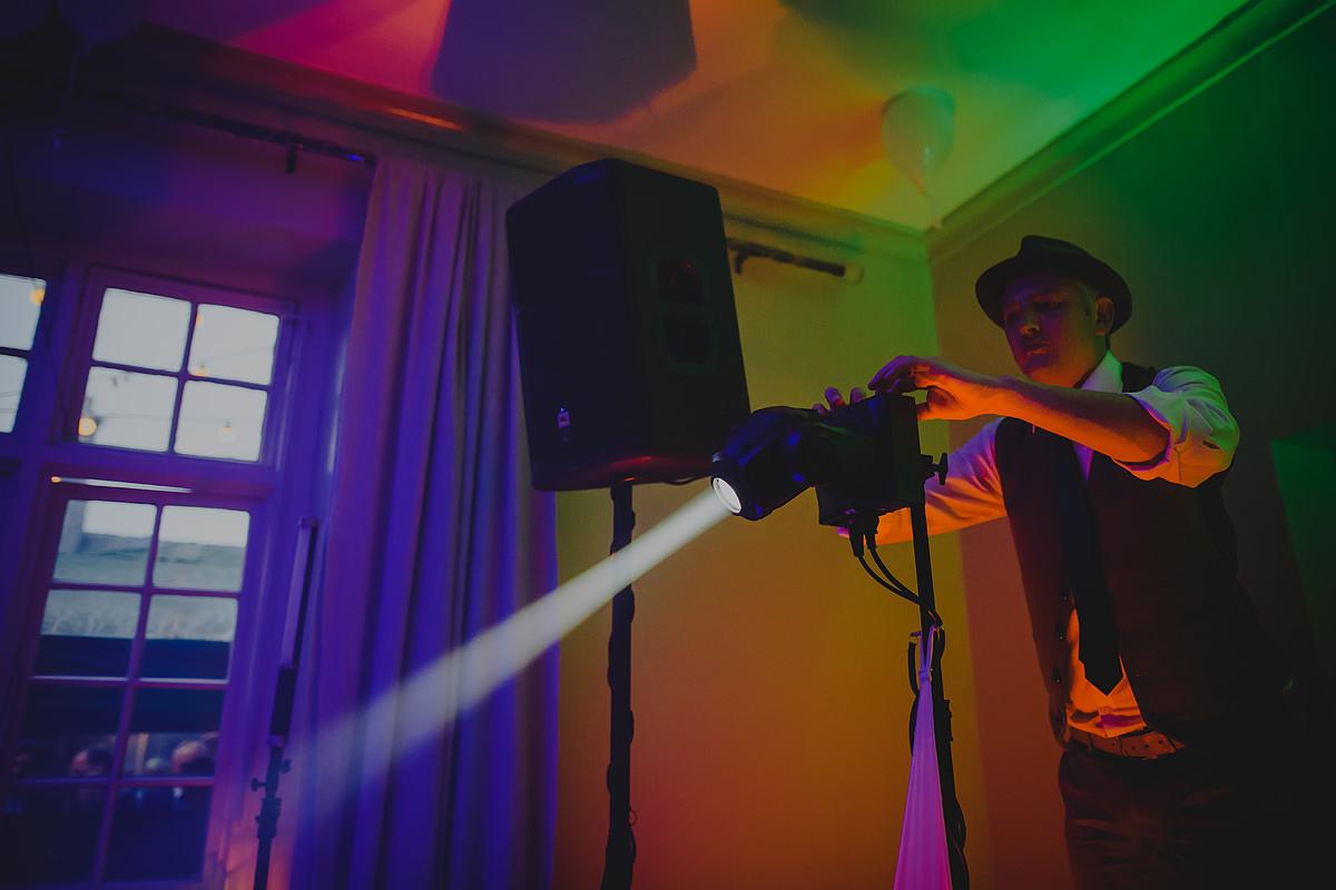 DJ lights dance floor