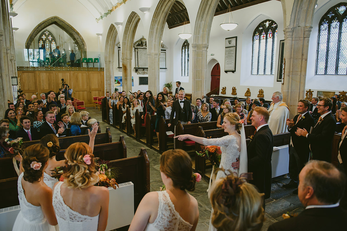 Padstow wedding at St Petroc's Church