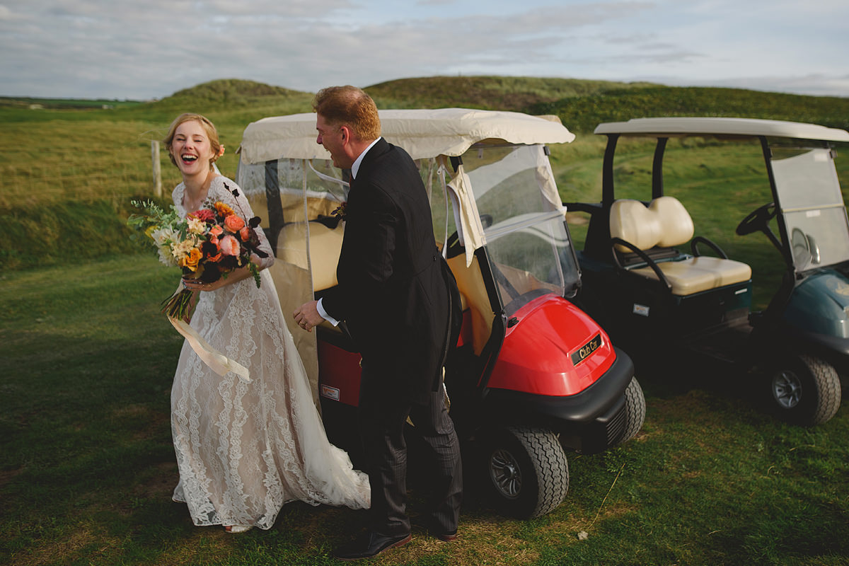 Trevose Head golf buggy wedding