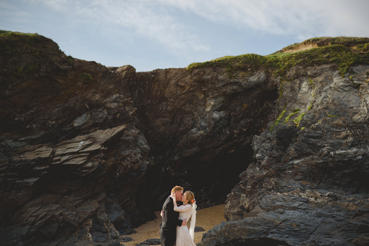 Trevose Headland wedding photo