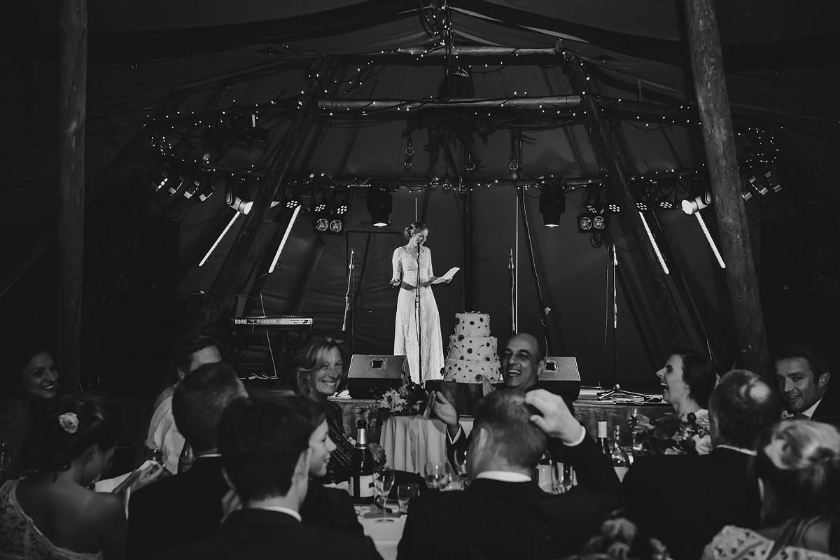 Bride speech at a Trevose wedding