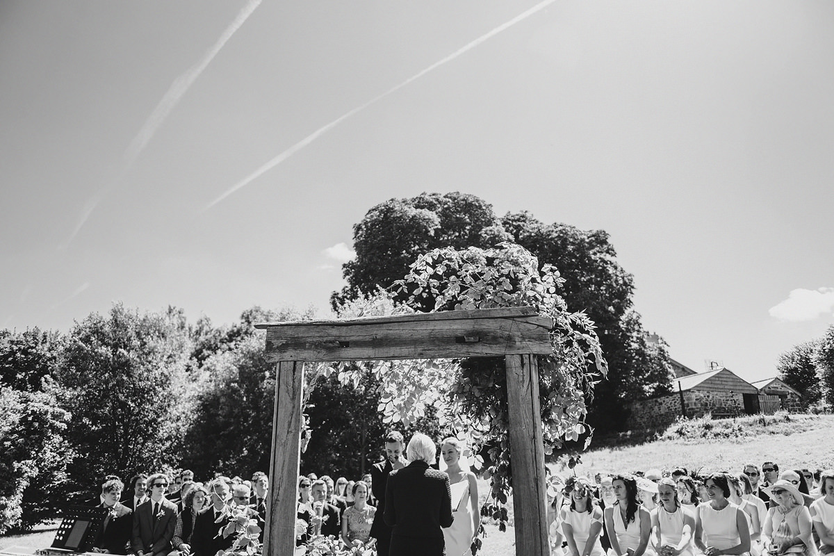 Outdoor ceremony at Anran