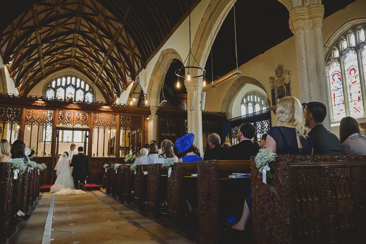 Wedding at All Saints Church in Holbeton Devon