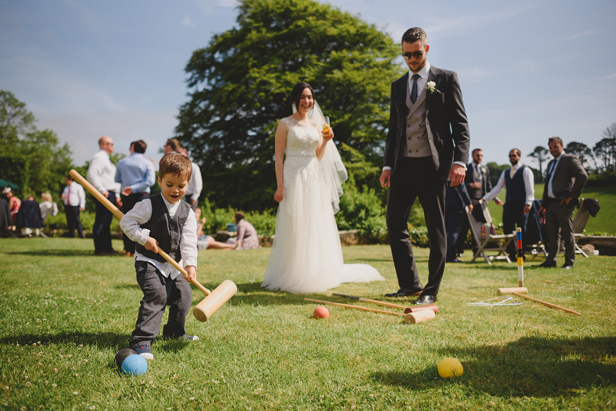 Croquet on the lawn at Pamflete House