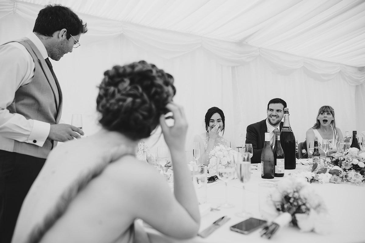 Speeches at a wedding at Pamflete House