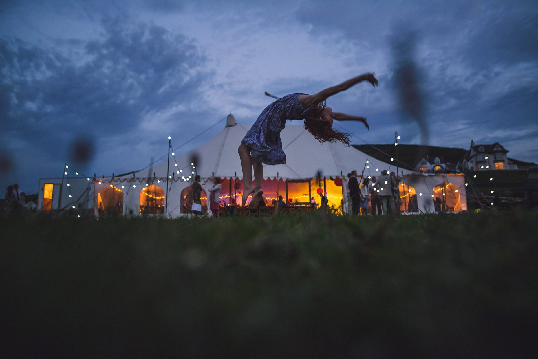 croyde bay night wedding marquee