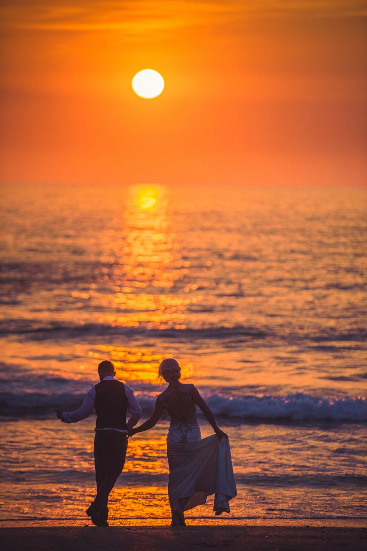 lusty glaze beach sunset wedding