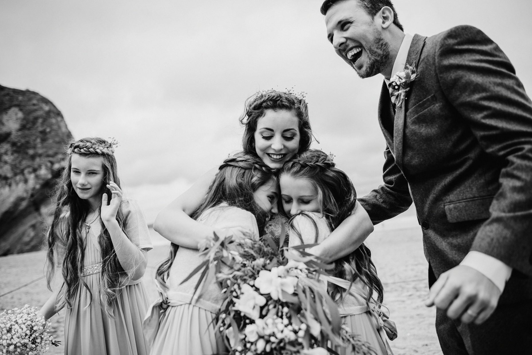 lusty glaze beach wedding photos