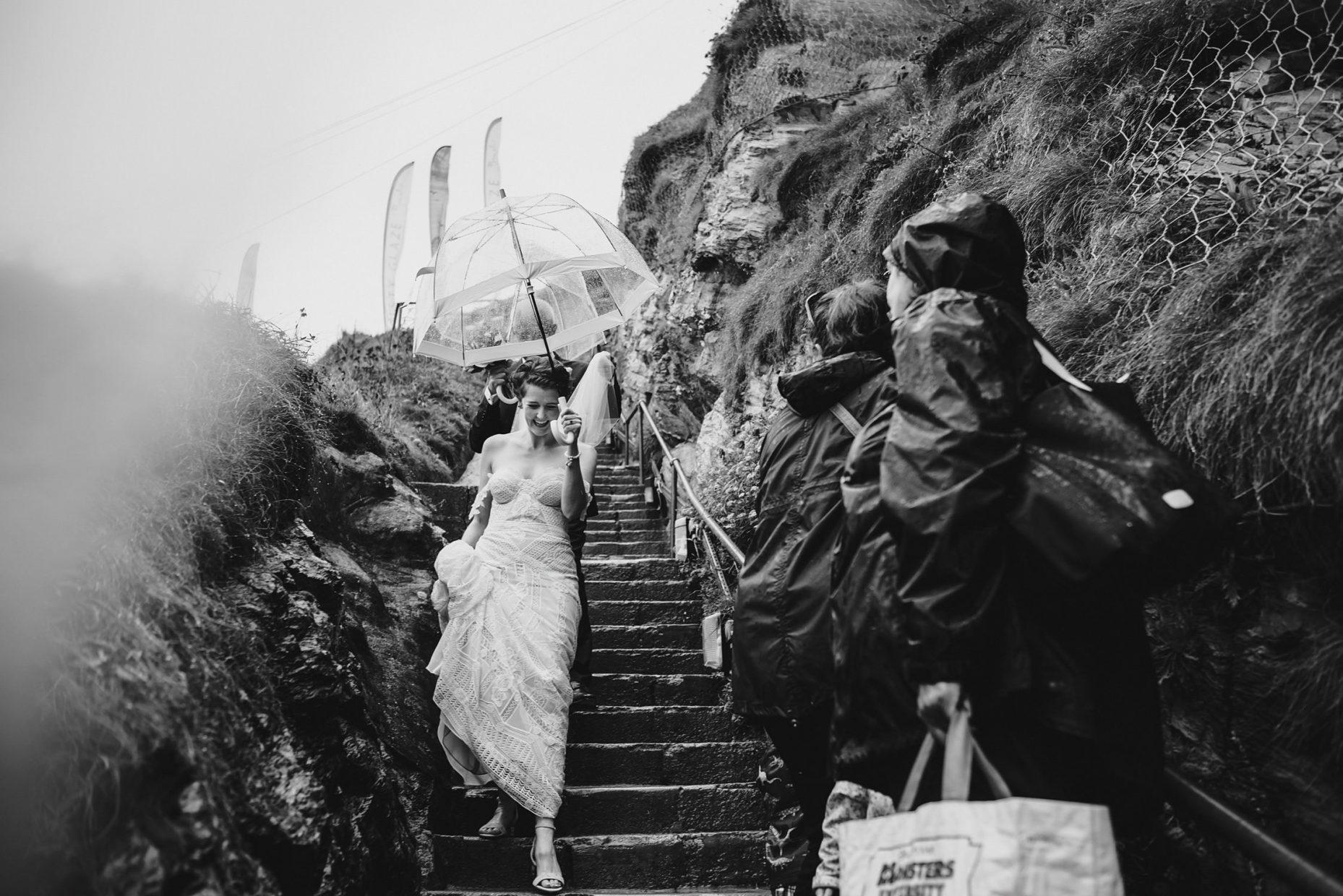 lusty glaze rainy wedding