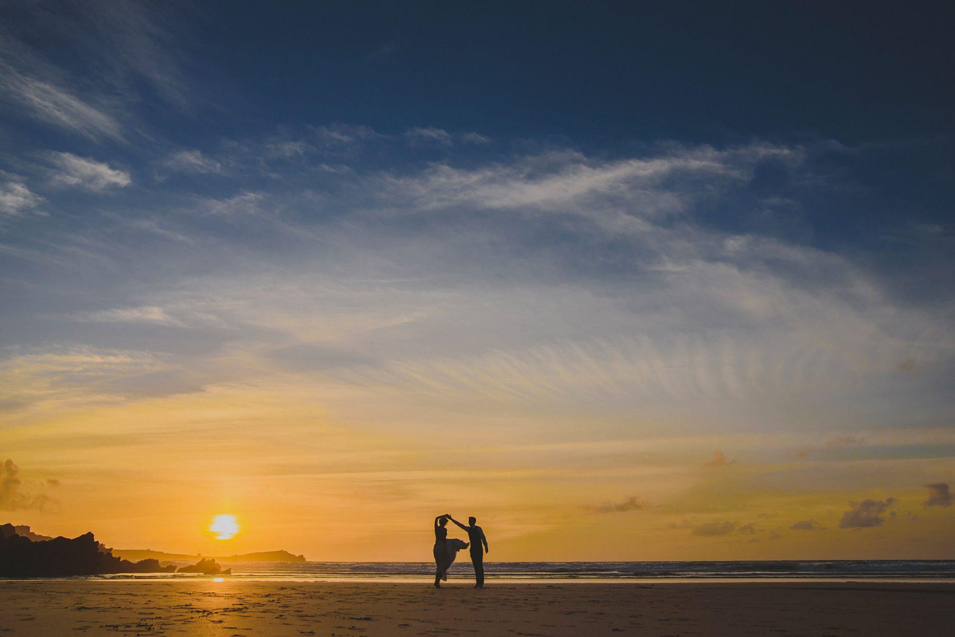 lusty glaze wedding photo sunset