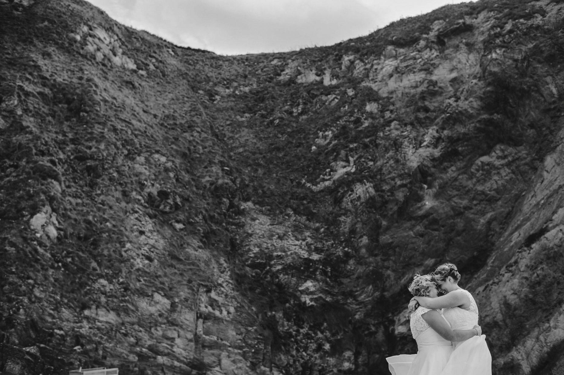 same sex wedding photography cornwall