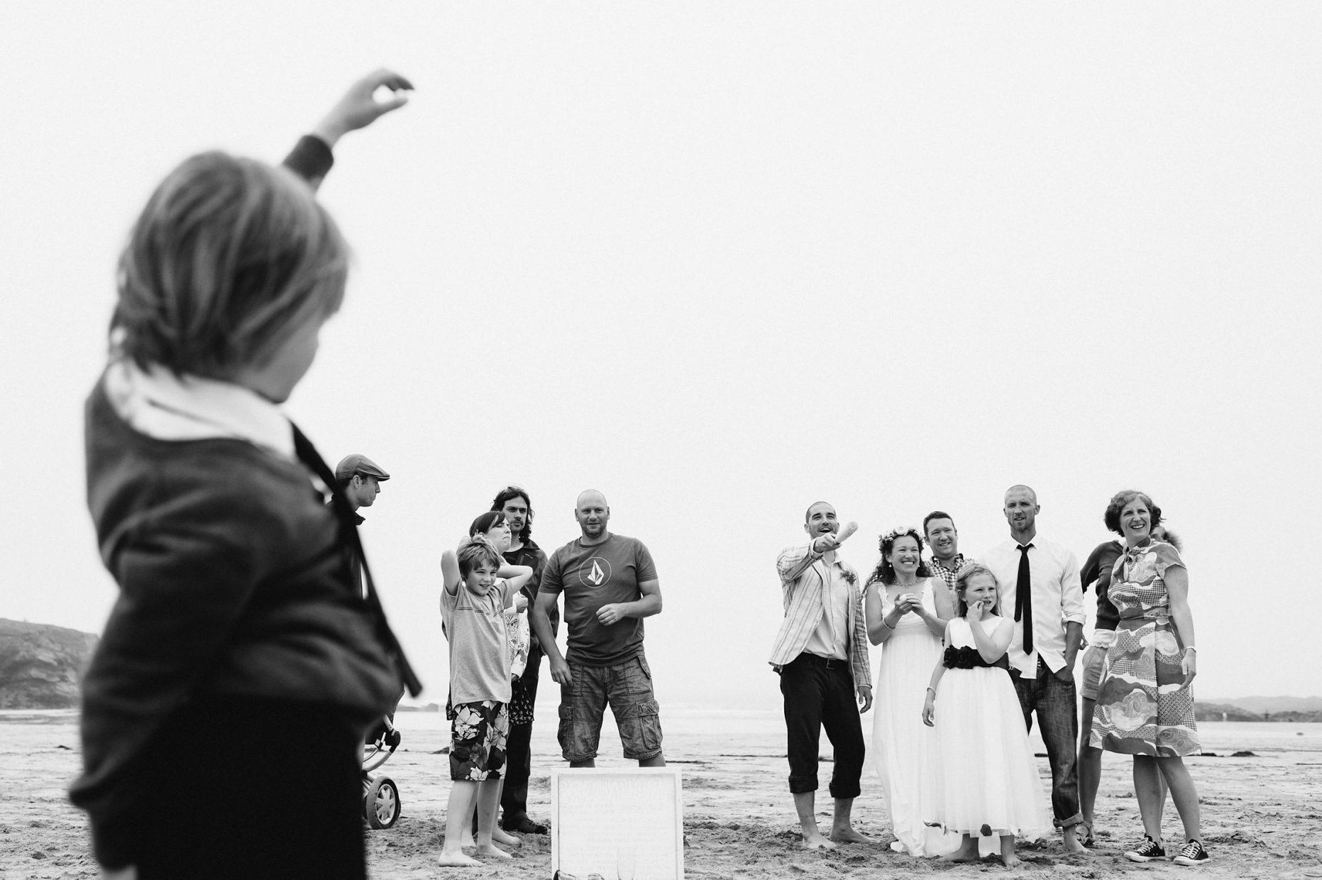 treyarnon bay wedding beach games