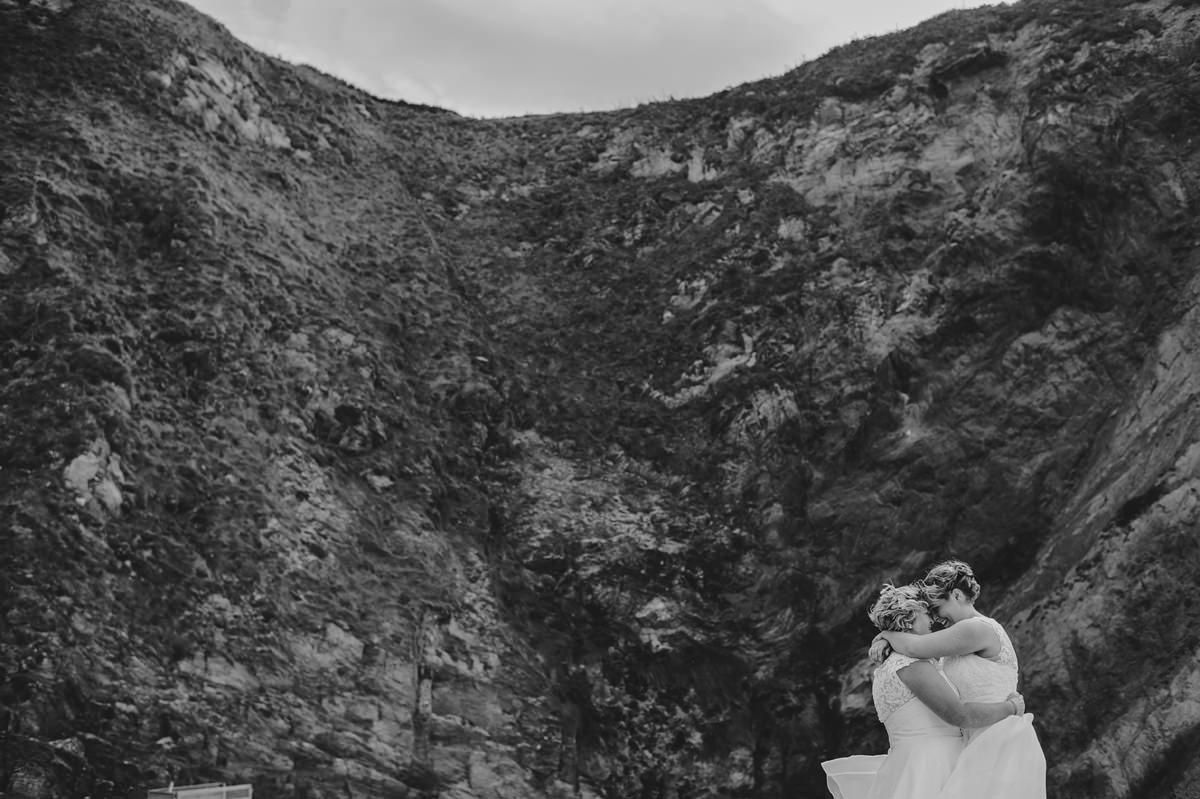 Katie + Donna. Lusty Glaze Beach Wedding.
