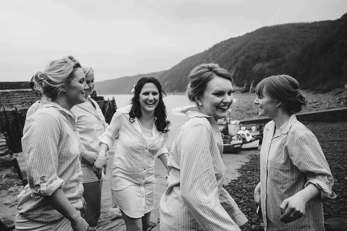 Bridesmaids at Red Lion Hotel in Clovelly