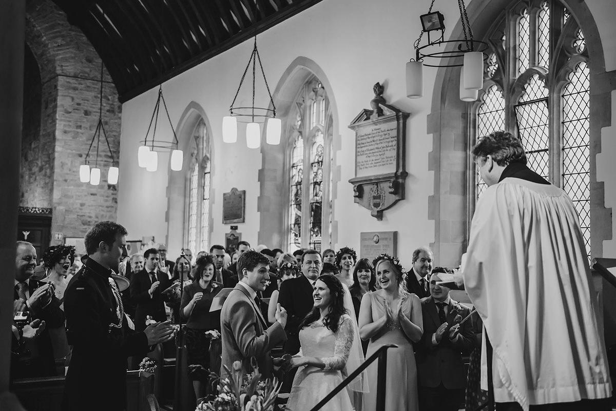 First kiss at Georgeham Church