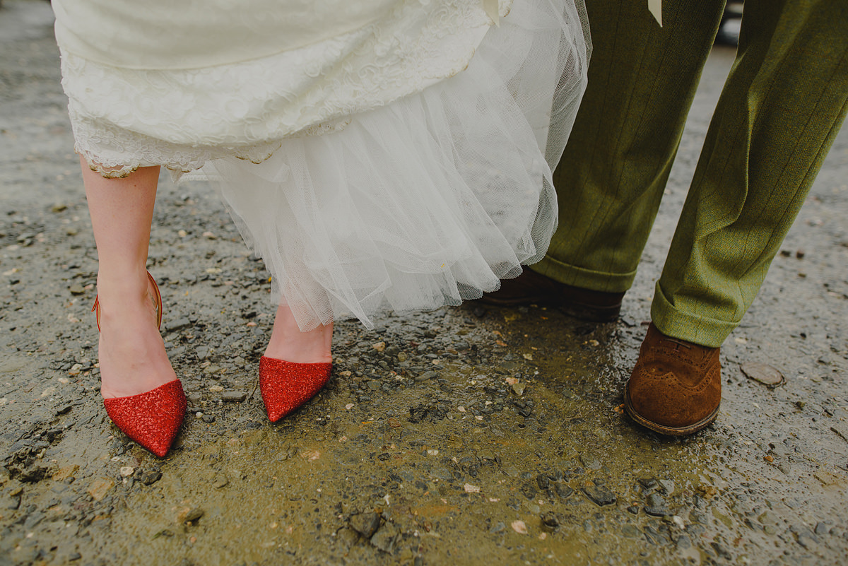 Bride wearing Jimmy Choo