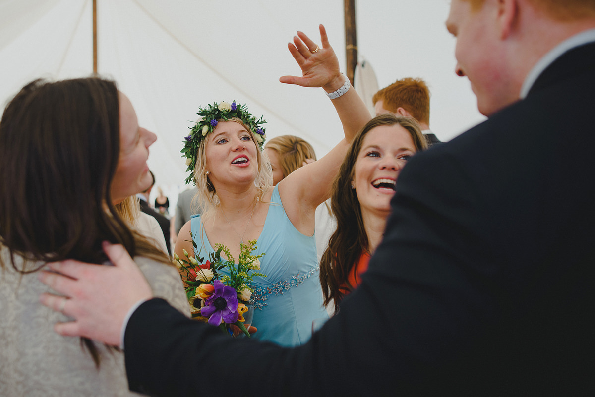Guests at a wedding in Croyde