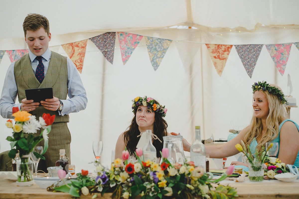 Speeches at a wedding in Croyde
