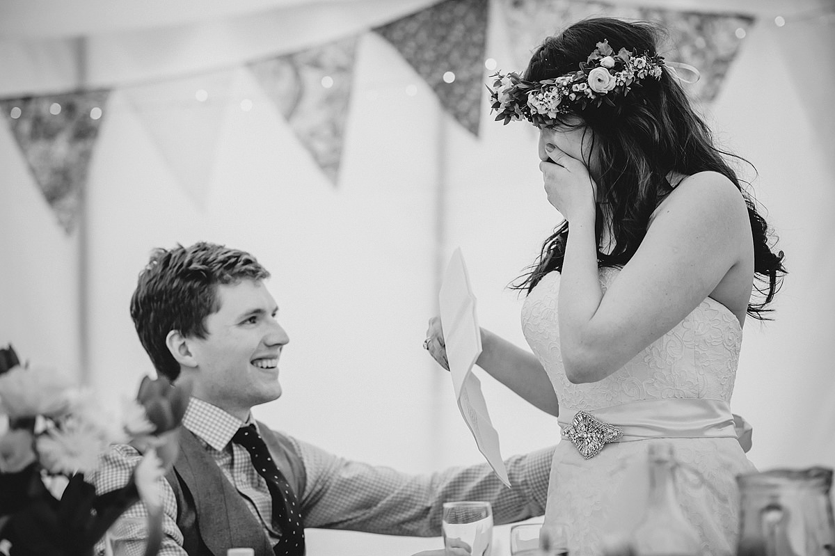 Bride's speech at a Croyde wedding