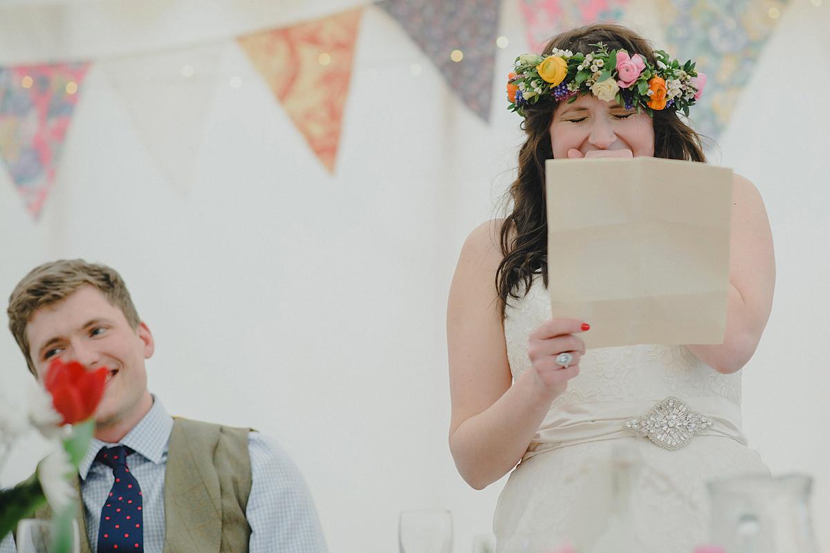 Bride's speech at a Croyde wedding
