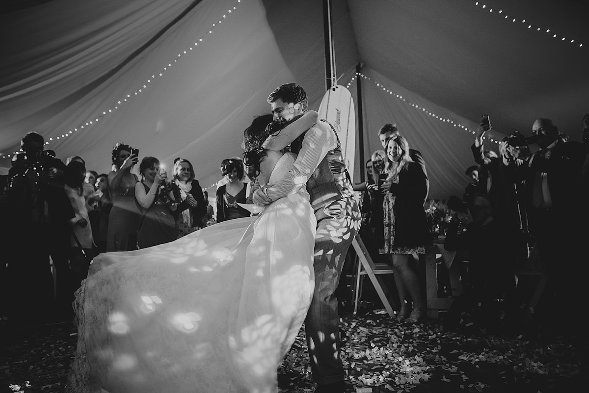 First dance at a wedding in Croyde bay