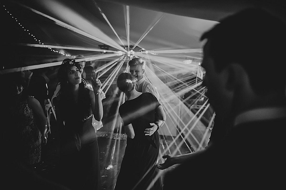 DjJ lights at a wedding in Croyde