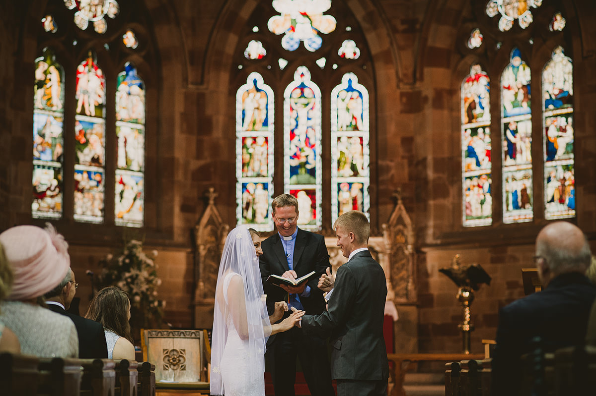 Wedding ceremony at Holy Trinity Church