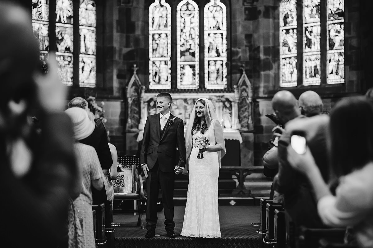 Bride and groom married in Shrewsbury