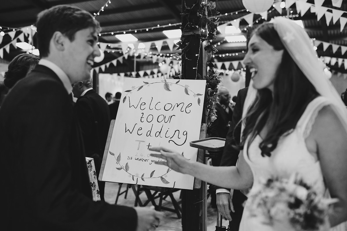 Welcome to our wedding sign Shropshire