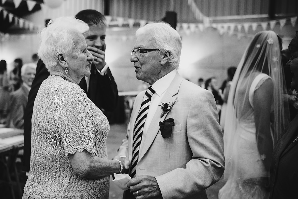 Guests at a Shropshire wedding