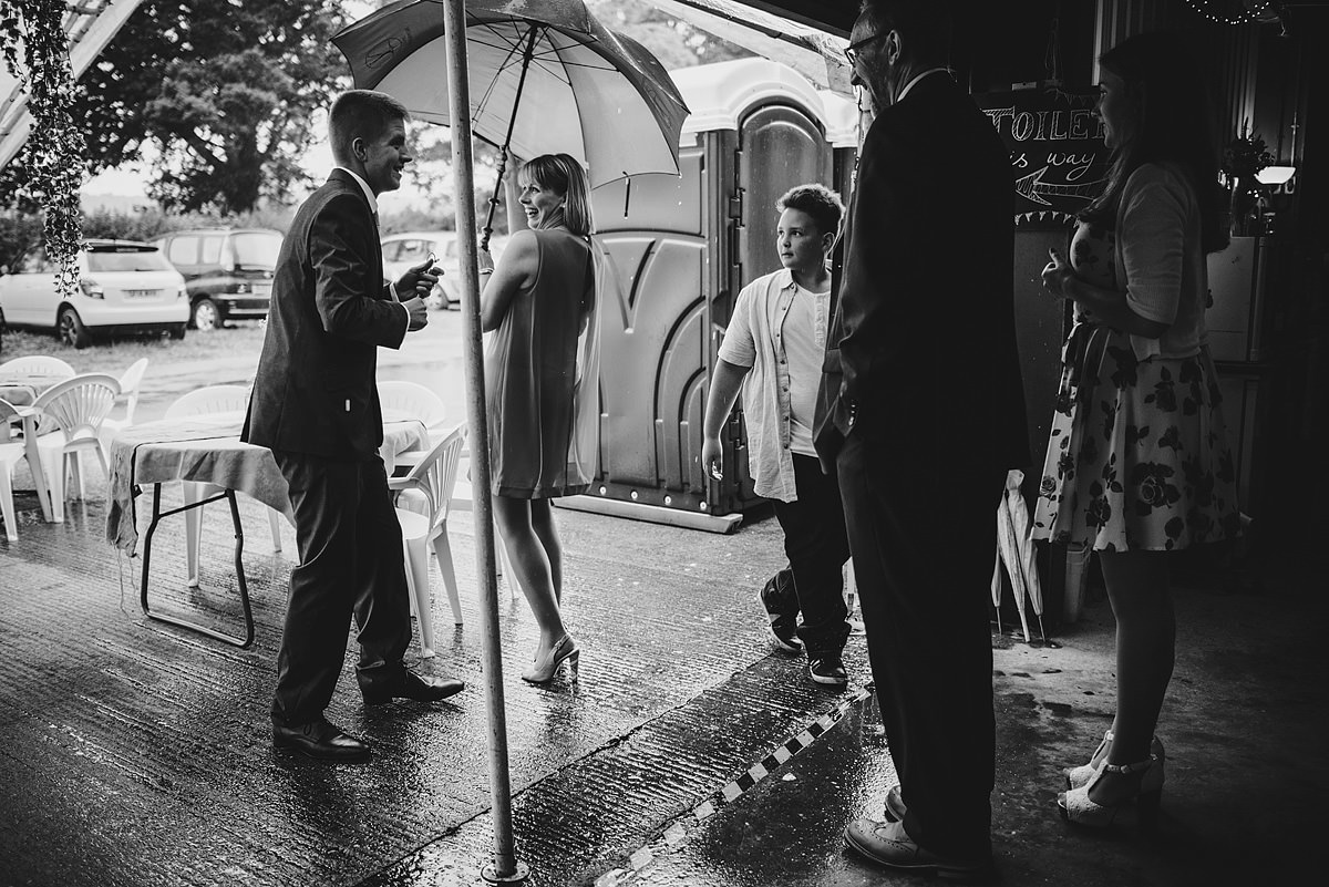 Shropshire wedding photos rain