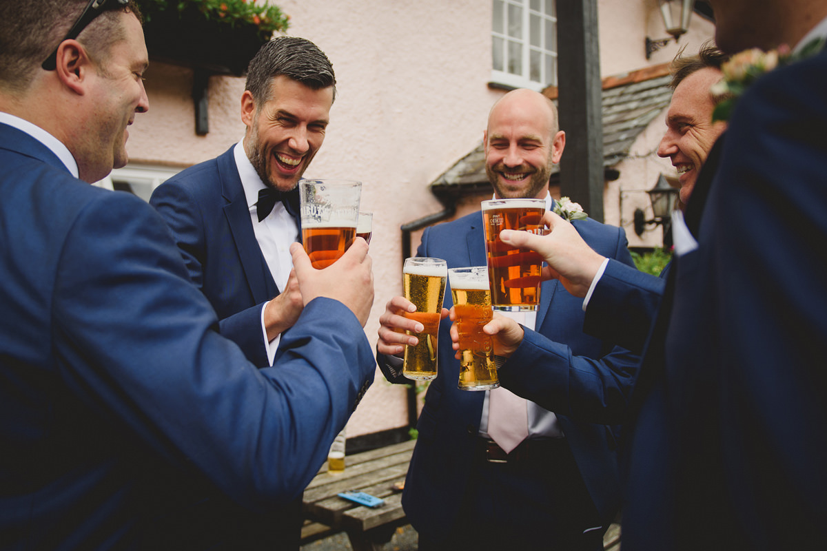 Groomsmen laughter