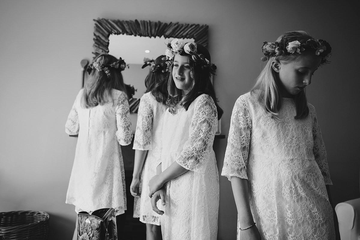 Flower girls at a Trevose Head wedding