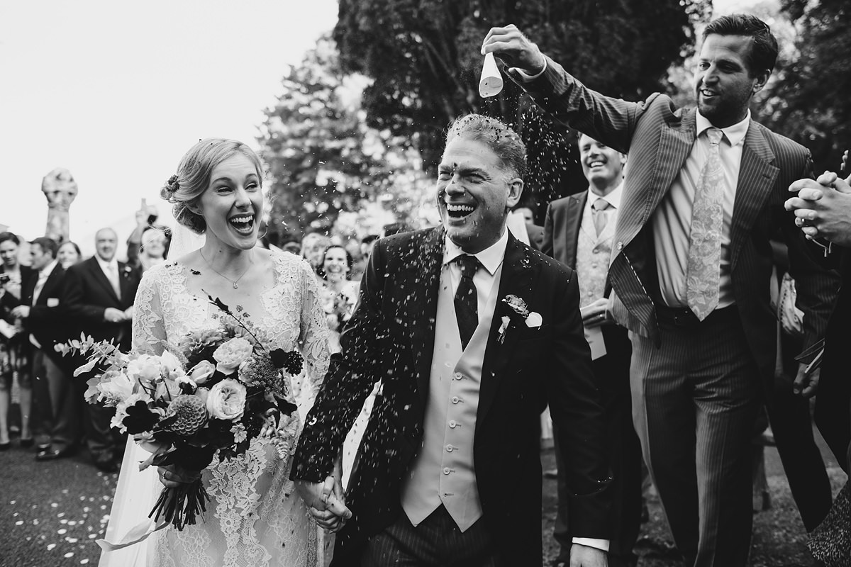 Confetti at a Padstow wedding