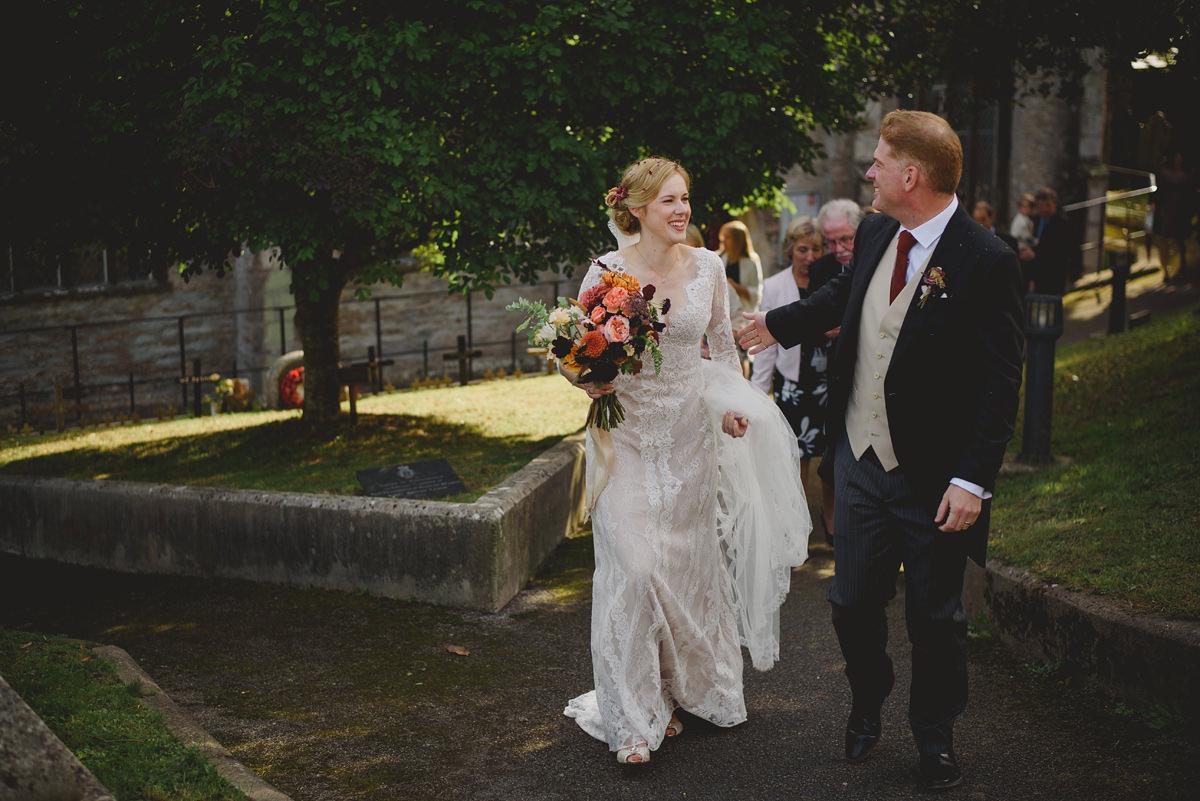 Natural photo at a Padstow wedding