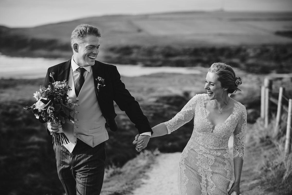 Wedding photography at Trevose Head