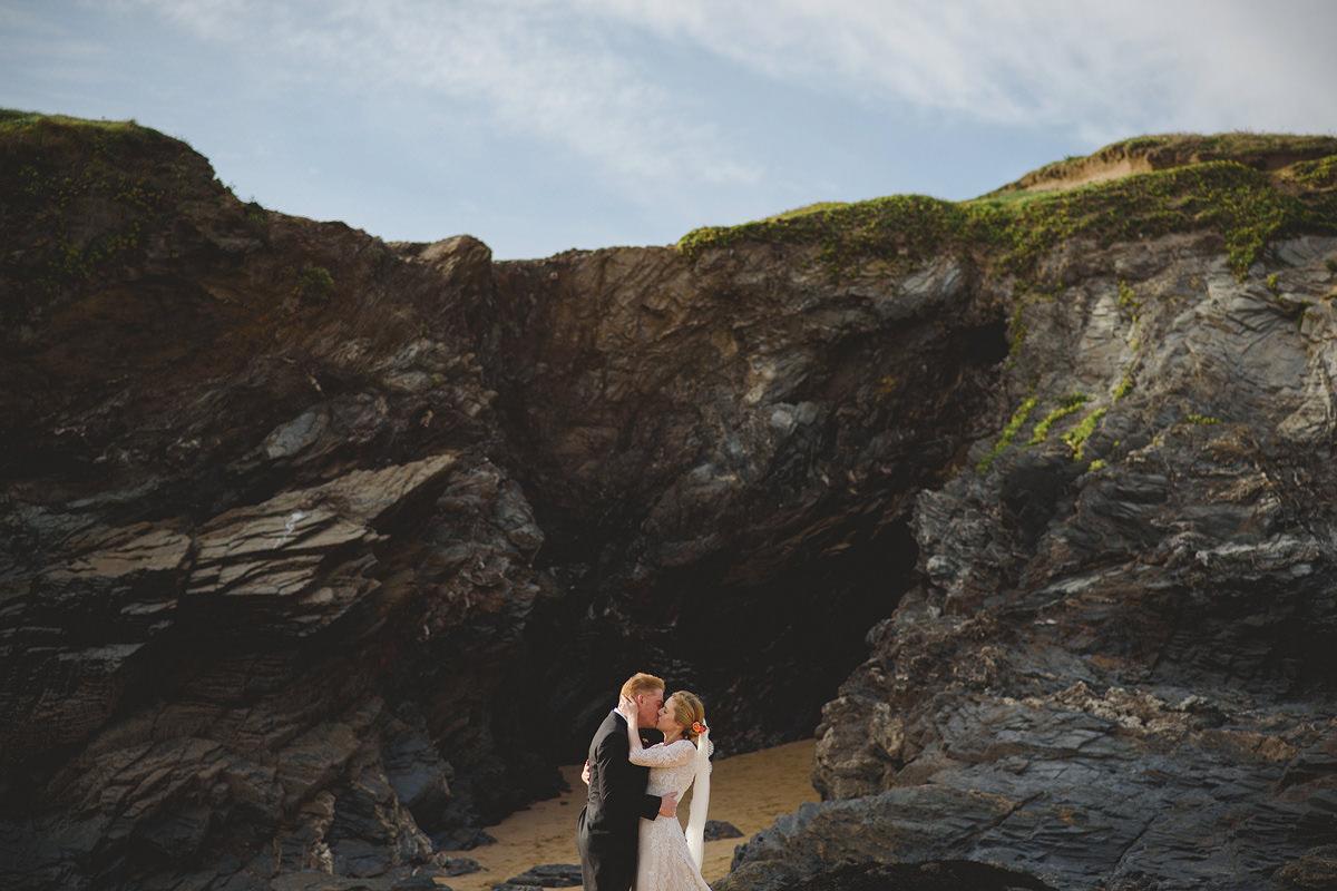 Trevose Headland wedding photo
