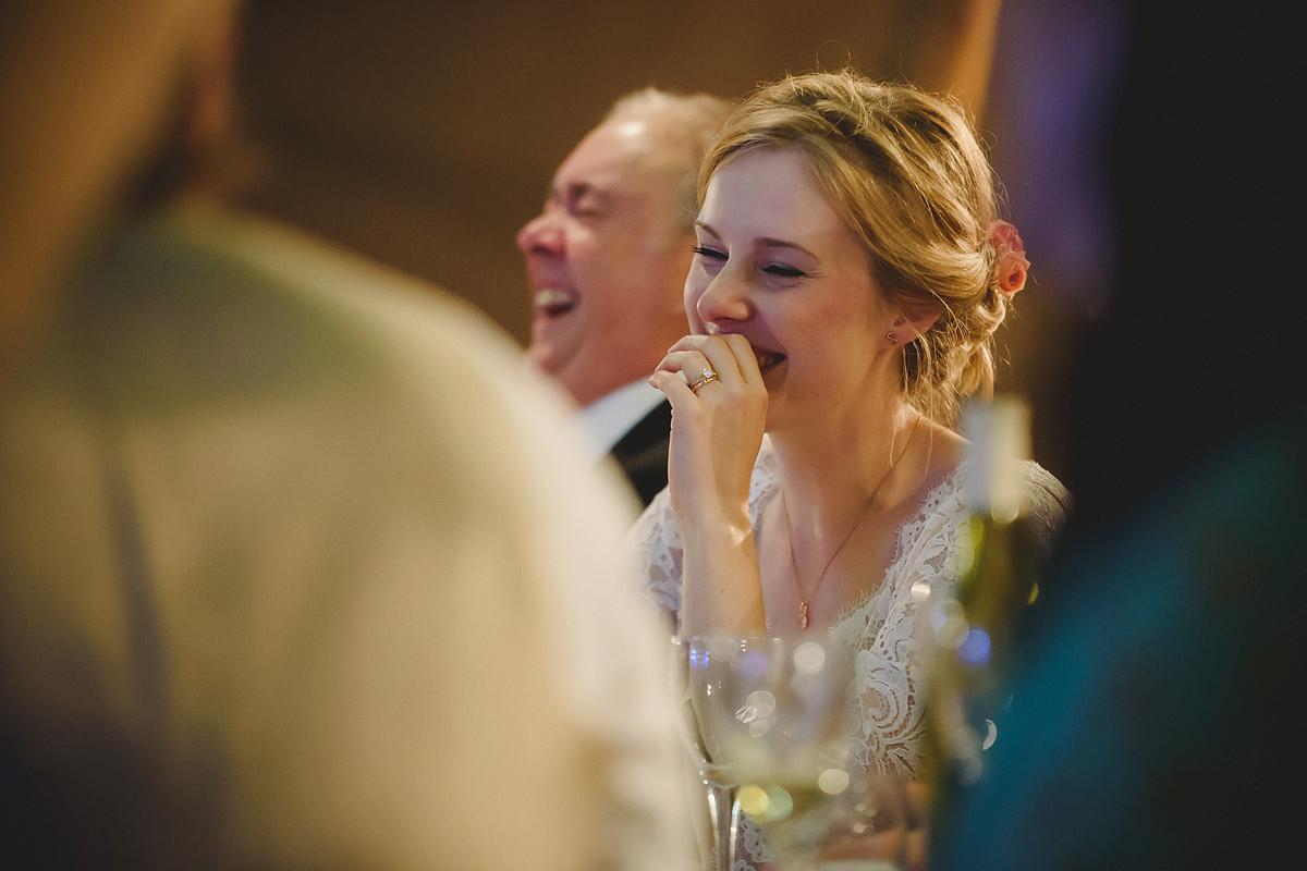 Bride reaction to speeches