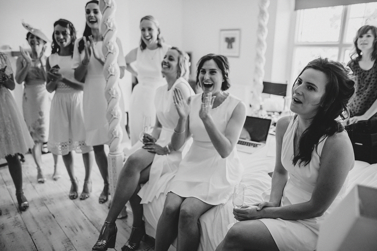Bridesmaids reaction to seeing bride