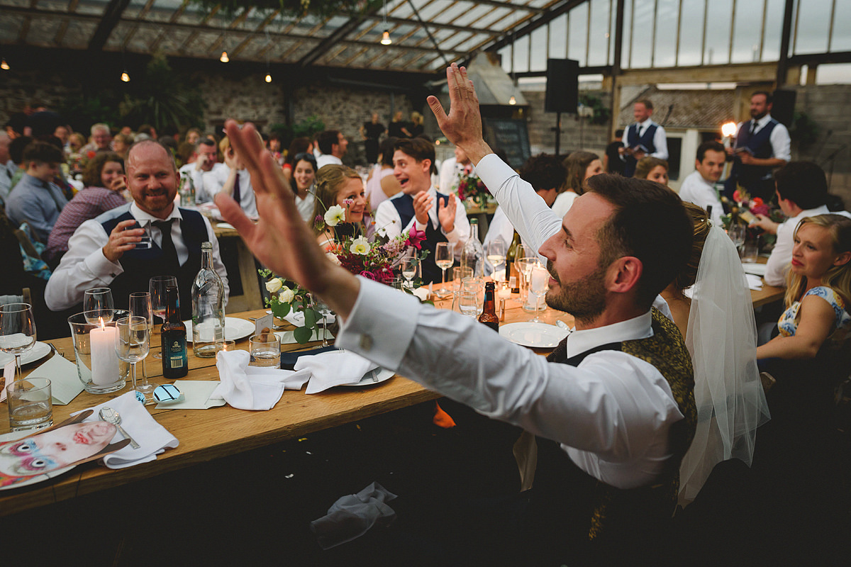 Wedding speeches at Anran glass house