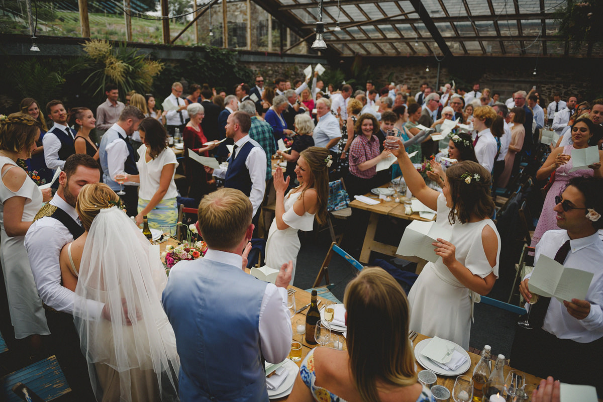 Wedding speeches at Anran glasshouse