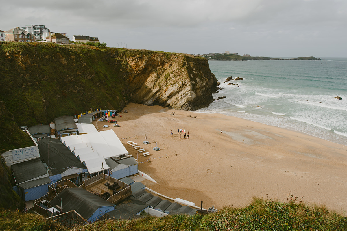 Lusty Glaze beach weddings