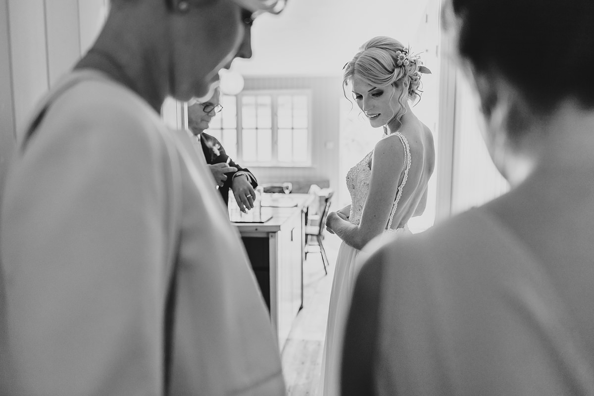 Bride about to walk down the isle